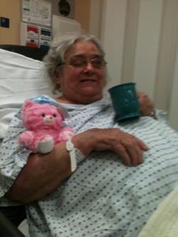 mum in hospital recovering from her second stroke